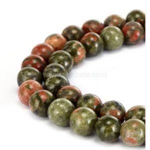 "Shop Unakite Round Beads! You Pick Top Quality Natural Unakite Jasper Gemstone 4mm 6mm 8mm 10mm Round Loose Beads 15.5"" #gf18 