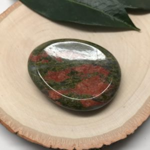 Shop Palm Stones! Unakite Jasper Worry Stone | Thumb Stone | Palm Stone #p17 | Natural genuine stones & crystals in various shapes & sizes. Buy raw cut, tumbled, or polished gemstones for making jewelry or crystal healing energy vibration raising reiki stones. #crystals #gemstones #crystalhealing #crystalsandgemstones #energyhealing #affiliate #ad