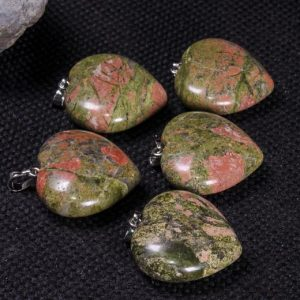Shop Unakite Shapes! Polished Hand Carved Unakite Heart / unakite Stone Heart / worry Stone / decoration / pendants / love Stone / gift For Her-drilled | Natural genuine stones & crystals in various shapes & sizes. Buy raw cut, tumbled, or polished gemstones for making jewelry or crystal healing energy vibration raising reiki stones. #crystals #gemstones #crystalhealing #crystalsandgemstones #energyhealing #affiliate #ad