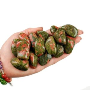 Shop Tumbled Unakite Crystals & Pocket Stones! Huge Unakite Tumbled Stone, Unakite Tumbled Stones, Healing Epidot Crystals, Epidote Healing Stones, LadiesCrystals, Ladies Crystals | Natural genuine stones & crystals in various shapes & sizes. Buy raw cut, tumbled, or polished gemstones for making jewelry or crystal healing energy vibration raising reiki stones. #crystals #gemstones #crystalhealing #crystalsandgemstones #energyhealing #affiliate #ad
