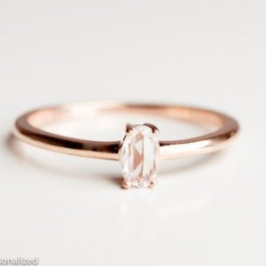 Shop Sapphire Jewelry! White Sapphire Engagement Ring – Engagement Ring For Women – Simple Gold Ring – Engagement Ring Rose Gold – Mossanite Ring -Anniversary Ring | Natural genuine Sapphire jewelry. Buy handcrafted artisan wedding jewelry.  Unique handmade bridal jewelry gift ideas. #jewelry #beadedjewelry #gift #crystaljewelry #shopping #handmadejewelry #wedding #bridal #jewelry #affiliate #ad