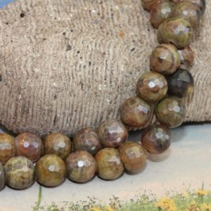 Shop Agate Faceted Beads! 6 BEADS Brown Faceted Fire Agate Gemstone Beads 8mm / Faceted Fire Agate beads / Cracked Agate Beads / Brown Faceted Gemstone Beads 8MM   Natural genuine faceted Agate beads for beading and jewelry making.  #jewelry #beads #beadedjewelry #diyjewelry #jewelrymaking #beadstore #beading #affiliate #ad