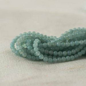 "Shop Amazonite Round Beads! High Quality Grade A Natural Amazonite Semi-precious Gemstone Round Beads – 2mm – Approx 15.5"" strand 