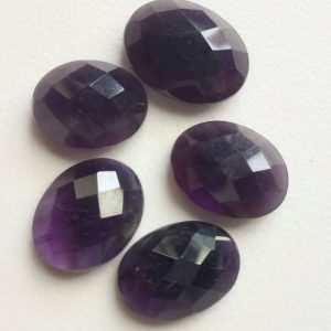Shop Amethyst Cabochons! 5 Pcs Amethyst Cabochon Lot, Oval Checker Cut Amethyst, Loose Amethyst Flat Back, 12x15mm – 13×17.5mm – GODP560D | Natural genuine stones & crystals in various shapes & sizes. Buy raw cut, tumbled, or polished gemstones for making jewelry or crystal healing energy vibration raising reiki stones. #crystals #gemstones #crystalhealing #crystalsandgemstones #energyhealing #affiliate #ad
