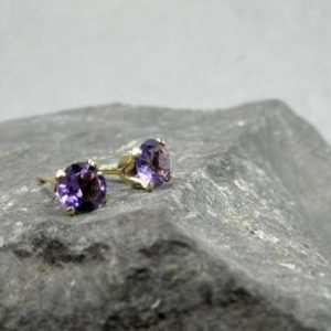Shop Amethyst Earrings! Amethyst Stud Earrings, February Birthstone Gift, Sparkly Purple Stone Stud Earrings, African Amethyst Earrings, 3mm 4mm 5mm Stud Earrings | Natural genuine Amethyst earrings. Buy crystal jewelry, handmade handcrafted artisan jewelry for women.  Unique handmade gift ideas. #jewelry #beadedearrings #beadedjewelry #gift #shopping #handmadejewelry #fashion #style #product #earrings #affiliate #ad