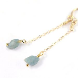 Shop Aquamarine Earrings! Aquamarine Earrings 14k Gold Filled – Mother's Day Gift – Long Raw Aquamarine Stone Earrings – Irregular Shape – March Birthstone | Natural genuine Aquamarine earrings. Buy crystal jewelry, handmade handcrafted artisan jewelry for women.  Unique handmade gift ideas. #jewelry #beadedearrings #beadedjewelry #gift #shopping #handmadejewelry #fashion #style #product #earrings #affiliate #ad