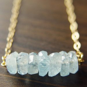 Aquamarine Nugget Necklace, Blue Raw Stone,  Aquamarine Gold Necklace | Natural genuine Aquamarine necklaces. Buy crystal jewelry, handmade handcrafted artisan jewelry for women.  Unique handmade gift ideas. #jewelry #beadednecklaces #beadedjewelry #gift #shopping #handmadejewelry #fashion #style #product #necklaces #affiliate #ad