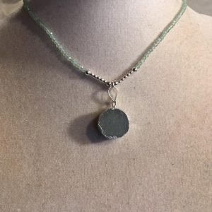 Shop Aventurine Pendants! Green Necklace – Aventurine Gemstone Jewellery – Pendant – Beaded Jewelry Silver – Long | Natural genuine Aventurine pendants. Buy crystal jewelry, handmade handcrafted artisan jewelry for women.  Unique handmade gift ideas. #jewelry #beadedpendants #beadedjewelry #gift #shopping #handmadejewelry #fashion #style #product #pendants #affiliate #ad