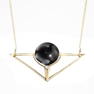 Shop Black Tourmaline Necklaces! Black tourmaline necklace pendant, Simple triangle necklace, 14k yellow gold necklace, Black stone necklace for women, Geometric jewelry. | Natural genuine Black Tourmaline necklaces. Buy crystal jewelry, handmade handcrafted artisan jewelry for women.  Unique handmade gift ideas. #jewelry #beadednecklaces #beadedjewelry #gift #shopping #handmadejewelry #fashion #style #product #necklaces #affiliate #ad