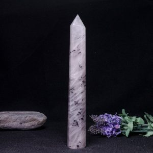 Shop Black Tourmaline Points & Wands! Rare Natural Extra Large Black Rutilated Quartz Tower/Black Tourmaline Point/Rutilated Crystal Collection/Crystal Gift-36*36*250mm 463g#1796 | Natural genuine stones & crystals in various shapes & sizes. Buy raw cut, tumbled, or polished gemstones for making jewelry or crystal healing energy vibration raising reiki stones. #crystals #gemstones #crystalhealing #crystalsandgemstones #energyhealing #affiliate #ad