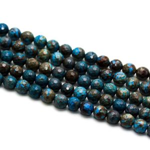 "Shop Blue Lace Agate Beads! Blue Calsilica Jasper Faceted Round Beads 6mm 8mm 10mm 12mm 15.5"" Strand 