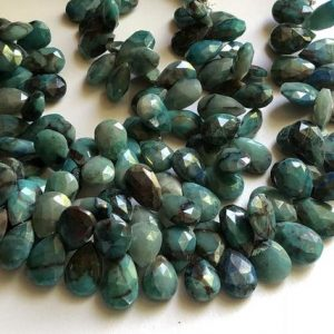 Shop Chrysocolla Bead Shapes! 8 Inch Chrysocolla Pear Beads, 9x13mm – 10x14mm Natural Chrysocolla Faceted Pear Beads, 40 Pcs Chrysocolla Necklace, Chrysocolla Bead – AAG6 | Natural genuine other-shape Chrysocolla beads for beading and jewelry making.  #jewelry #beads #beadedjewelry #diyjewelry #jewelrymaking #beadstore #beading #affiliate #ad