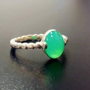 Chrysoprase Ring, Natural Chrysoprase, May Birthstone, Green Promise Ring, May Ring, Green Vintage Ring, Sterling Silver Ring, Chrysoprase | Natural genuine Chrysoprase rings, simple unique handcrafted gemstone rings. #rings #jewelry #shopping #gift #handmade #fashion #style #affiliate #ad