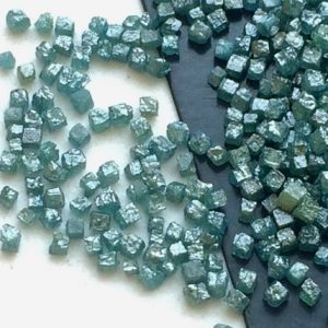 Shop Diamond Bead Shapes! 1 Carat Blue Perfect Cube Rough Diamonds, Tiny 1-2mm Undrilled Natural Blue Raw Diamond Box Bead, Loose Raw Uncut Diamond Cubes – PUSPD111 | Natural genuine other-shape Diamond beads for beading and jewelry making.  #jewelry #beads #beadedjewelry #diyjewelry #jewelrymaking #beadstore #beading #affiliate #ad