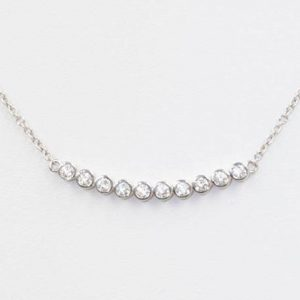 Shop Diamond Pendants! Diamond Necklace.14k White Gold Diamond Necklace.Bezel Diamond Pendant.0.60 CT High Quality Diamond Necklace.100 % Natural Diamonds | Natural genuine Diamond pendants. Buy crystal jewelry, handmade handcrafted artisan jewelry for women.  Unique handmade gift ideas. #jewelry #beadedpendants #beadedjewelry #gift #shopping #handmadejewelry #fashion #style #product #pendants #affiliate #ad