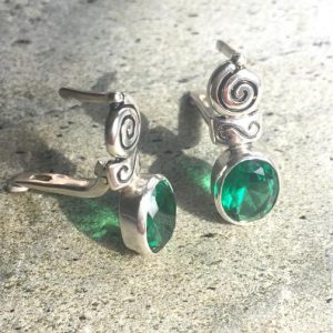 Shop Emerald Earrings! Emerald Earrings, Antique Earrings, Vintage Earrings, Antique Emerald, Green Earrings, Sterling Silver, Green Vintage, Solid Silver | Natural genuine Emerald earrings. Buy crystal jewelry, handmade handcrafted artisan jewelry for women.  Unique handmade gift ideas. #jewelry #beadedearrings #beadedjewelry #gift #shopping #handmadejewelry #fashion #style #product #earrings #affiliate #ad