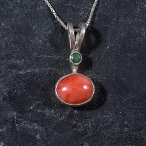 Shop Emerald Pendants! Coral Pendant, Angel Skin Coral, Natural Coral, Emerald Pendant, Pink Coral, March Birthstone, Vintage Pendant, Natural Stones, Coral | Natural genuine Emerald pendants. Buy crystal jewelry, handmade handcrafted artisan jewelry for women.  Unique handmade gift ideas. #jewelry #beadedpendants #beadedjewelry #gift #shopping #handmadejewelry #fashion #style #product #pendants #affiliate #ad