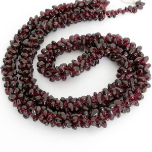 Shop Garnet Chip & Nugget Beads! Garnet Beads,  Garnet Chip Bead Strand, Genuine Garnets,  Red Gemstone Beads, Full Strand, Garnet212 | Natural genuine chip Garnet beads for beading and jewelry making.  #jewelry #beads #beadedjewelry #diyjewelry #jewelrymaking #beadstore #beading #affiliate #ad