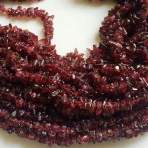 Shop Garnet Chip & Nugget Beads! 4-6mm Garnet Chips, Garnet Beads, Natural Garnet Chips, Garnet For Necklace, 32 Inch Chips For Jewelry (1strand To 10strands Options) | Natural genuine chip Garnet beads for beading and jewelry making.  #jewelry #beads #beadedjewelry #diyjewelry #jewelrymaking #beadstore #beading #affiliate #ad