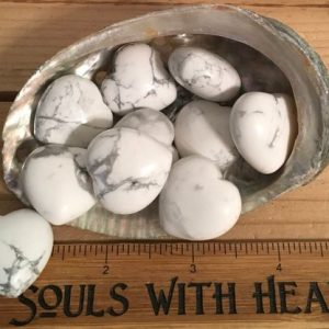 Howlite Puffy Heart, Calming, Teaches Patience, Healing Stone, Healing Crystal, Chakra Stone, spiritual Stone, Meditation Stone | Natural genuine stones & crystals in various shapes & sizes. Buy raw cut, tumbled, or polished gemstones for making jewelry or crystal healing energy vibration raising reiki stones. #crystals #gemstones #crystalhealing #crystalsandgemstones #energyhealing #affiliate #ad