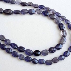 13 Inch Iolite Plain Oval Beads, 5-7mm Natural Iolite Beads, Iolite Necklace, Iolite Stones, Iolite Jewelry, 45 Pcs – PUSDG4 | Natural genuine other-shape Iolite beads for beading and jewelry making.  #jewelry #beads #beadedjewelry #diyjewelry #jewelrymaking #beadstore #beading #affiliate #ad