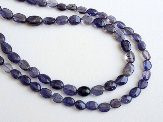 5-7mm Iolite Plain Oval Beads, Natural Iolite Plain Oval Beads, Blue Iolite Stones, 13 Inch Iolite For Jewelry (1st To 5st Options) - Pusdg4