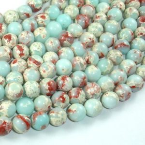 Shop Jasper Beads! Impression Jasper, 8mm(8.3mm) Round Beads, 15 Inch, Full strand, Approx 47 beads, Hole 1mm (281054034) | Natural genuine beads Jasper beads for beading and jewelry making.  #jewelry #beads #beadedjewelry #diyjewelry #jewelrymaking #beadstore #beading #affiliate #ad