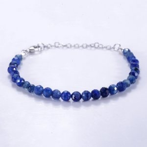 "Shop Kyanite Bracelets! KYANITE BRACELET BEADS "" Natural Kyanite Stone Beads Jewelry 