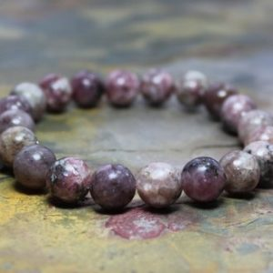 Shop Lepidolite Bracelets! Yoga Bracelet Women, Chunky Bead Bracelet Women, Pink Stretch Bracelet, Spiritual Gifts Women, Lepidolite Jewelry, Pink Lepidolite | Natural genuine Lepidolite bracelets. Buy crystal jewelry, handmade handcrafted artisan jewelry for women.  Unique handmade gift ideas. #jewelry #beadedbracelets #beadedjewelry #gift #shopping #handmadejewelry #fashion #style #product #bracelets #affiliate #ad