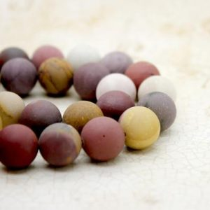Shop Mookaite Beads! Matte Mookaite Round Ball Sphere Natural Gemstone Beads (6mm 8mm 10mm 12mm) | Natural genuine round Mookaite beads for beading and jewelry making.  #jewelry #beads #beadedjewelry #diyjewelry #jewelrymaking #beadstore #beading #affiliate #ad