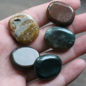 Ocean Jasper Small Flat Disk J61 | Natural genuine stones & crystals in various shapes & sizes. Buy raw cut, tumbled, or polished gemstones for making jewelry or crystal healing energy vibration raising reiki stones. #crystals #gemstones #crystalhealing #crystalsandgemstones #energyhealing #affiliate #ad