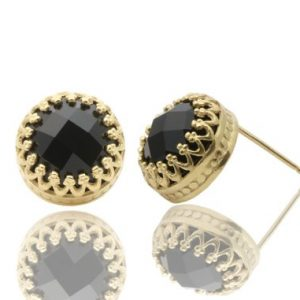 Black onyx earrings,gold earrings,large stud earrings,gemstone earrings,semi precious earrings,14k gold earrings | Natural genuine Onyx earrings. Buy crystal jewelry, handmade handcrafted artisan jewelry for women.  Unique handmade gift ideas. #jewelry #beadedearrings #beadedjewelry #gift #shopping #handmadejewelry #fashion #style #product #earrings #affiliate #ad