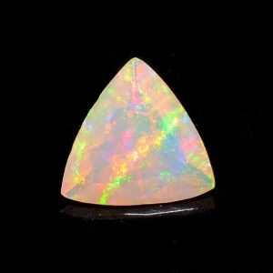 Shop Opal Cabochons! Ethiopian Opal, Faceted Opal, Trillion Cut Stone, Faceted Cabochon, Fire Opal, 0.75CTW, 7mm  – O/274 | Natural genuine stones & crystals in various shapes & sizes. Buy raw cut, tumbled, or polished gemstones for making jewelry or crystal healing energy vibration raising reiki stones. #crystals #gemstones #crystalhealing #crystalsandgemstones #energyhealing #affiliate #ad