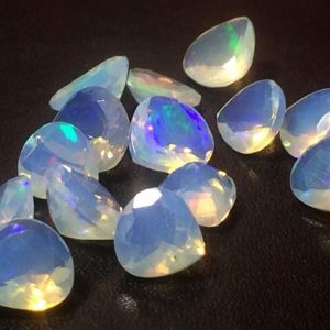 Shop Opal Shapes! 6-7mm Ethiopian Opal Faceted Heart Cut Stone, Fire Opal Faceted Heart Cut Stone, Ethiopian Welo Opal For Ring (3Pcs To 6Pcs Options) – PNT4 | Natural genuine stones & crystals in various shapes & sizes. Buy raw cut, tumbled, or polished gemstones for making jewelry or crystal healing energy vibration raising reiki stones. #crystals #gemstones #crystalhealing #crystalsandgemstones #energyhealing #affiliate #ad
