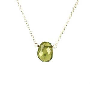 Peridot Necklace – Green Peridot – August Birthstone – Healing Crystal – Crystal Necklace – A Genuine Peridot On A 14k Gold Vermeil Chain | Natural genuine Peridot necklaces. Buy crystal jewelry, handmade handcrafted artisan jewelry for women.  Unique handmade gift ideas. #jewelry #beadednecklaces #beadedjewelry #gift #shopping #handmadejewelry #fashion #style #product #necklaces #affiliate #ad