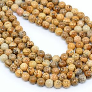 Shop Picture Jasper Beads! Picture Jasper Beads Grade AAA Genuine Natural Gemstone Round Loose Beads 4MM 6MM 8-9MM 10MM 12MM Bulk Lot Options | Natural genuine beads Picture Jasper beads for beading and jewelry making.  #jewelry #beads #beadedjewelry #diyjewelry #jewelrymaking #beadstore #beading #affiliate #ad