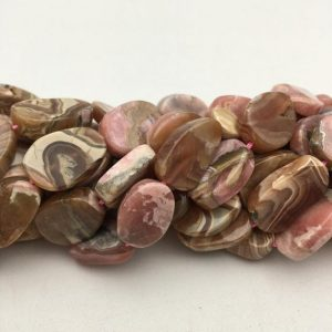 "Shop Rhodochrosite Beads! Natural Rhodochrosite Smooth Irregular Oval Size 10x14mm-15x40mm 15.5"" Strand 