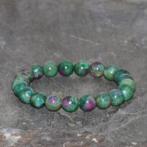 Shop Ruby Bracelets! Ruby Zoisite Bracelet Handmade 8mm Beaded Gemstone Bracelet Anyolite Grade AAA Pink Ruby in Green Zoisite Bracelet Stack Bracelet Unisex | Natural genuine Ruby bracelets. Buy crystal jewelry, handmade handcrafted artisan jewelry for women.  Unique handmade gift ideas. #jewelry #beadedbracelets #beadedjewelry #gift #shopping #handmadejewelry #fashion #style #product #bracelets #affiliate #ad