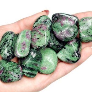 Shop Tumbled Ruby Crystals & Pocket Stones! Ruby In Zoisite Tumbled Stone, Ruby Zoisite Tumbled Stones, Healing Ruby Zoisit Crystals, Anyolite Healing Stones, Ladiescrystals, Ladies | Natural genuine stones & crystals in various shapes & sizes. Buy raw cut, tumbled, or polished gemstones for making jewelry or crystal healing energy vibration raising reiki stones. #crystals #gemstones #crystalhealing #crystalsandgemstones #energyhealing #affiliate #ad