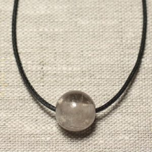 Shop Smoky Quartz Pendants! Semi precious stone pendant necklace – smoky Quartz ball 14 mm | Natural genuine Smoky Quartz pendants. Buy crystal jewelry, handmade handcrafted artisan jewelry for women.  Unique handmade gift ideas. #jewelry #beadedpendants #beadedjewelry #gift #shopping #handmadejewelry #fashion #style #product #pendants #affiliate #ad