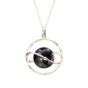 Shop Black Tourmaline Necklaces! Black tourmaline necklace, Galaxy cage pendant, 14k yellow gold space necklace, Minimalist planet necklace, Black stone necklace for women. | Natural genuine Black Tourmaline necklaces. Buy crystal jewelry, handmade handcrafted artisan jewelry for women.  Unique handmade gift ideas. #jewelry #beadednecklaces #beadedjewelry #gift #shopping #handmadejewelry #fashion #style #product #necklaces #affiliate #ad