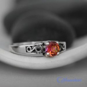 Shop Handmade Gemstone Engagement Rings! Anastasia Topaz Ring – Sterling Silver Art Deco Engagement Ring – Scroll Proposal Ring – Alternative Engagement – November Birthstone Ring | Natural genuine Gemstone rings, simple unique alternative gemstone engagement rings. #rings #jewelry #bridal #wedding #jewelryaccessories #engagementrings #weddingideas #affiliate #ad