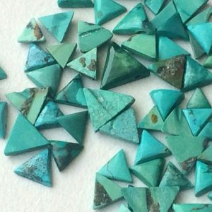5 Pcs Tibetan Turquoise Cabochons, Original Smooth Trillion Shape Turquoise Flat Back, Natural Loose Turquoise, 4-7mm Approx. – KS3245 | Natural genuine stones & crystals in various shapes & sizes. Buy raw cut, tumbled, or polished gemstones for making jewelry or crystal healing energy vibration raising reiki stones. #crystals #gemstones #crystalhealing #crystalsandgemstones #energyhealing #affiliate #ad
