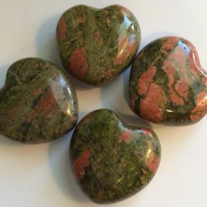 Unakite Small Gemstone Puffy Heart, 30mm, Spiritual Healing Stone, Healing Stone, Healing Crystal, Chakra | Natural genuine stones & crystals in various shapes & sizes. Buy raw cut, tumbled, or polished gemstones for making jewelry or crystal healing energy vibration raising reiki stones. #crystals #gemstones #crystalhealing #crystalsandgemstones #energyhealing #affiliate #ad