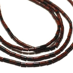 Shop Mahogany Obsidian Beads! 20pc – Stone Beads – Brown Mahogany, Mahogany Obsidian Tubes 4x2mm – 8741140019867 | Natural genuine other-shape Mahogany Obsidian beads for beading and jewelry making.  #jewelry #beads #beadedjewelry #diyjewelry #jewelrymaking #beadstore #beading #affiliate #ad