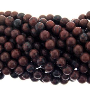 Shop Mahogany Obsidian Beads! 8mm Mahogany Obsidian Round Beads 16 Inch Strand | Natural genuine round Mahogany Obsidian beads for beading and jewelry making.  #jewelry #beads #beadedjewelry #diyjewelry #jewelrymaking #beadstore #beading #affiliate #ad