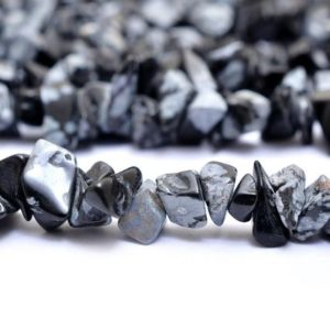 Shop Snowflake Obsidian Chip & Nugget Beads! Aaa Black White Obsidian Gemstone Uncut Chips 6mm Beads | 34inch Strand | Natural Snowflake Obsidian Semi Precious Gemstone Smooth Nuggets | Natural genuine chip Snowflake Obsidian beads for beading and jewelry making.  #jewelry #beads #beadedjewelry #diyjewelry #jewelrymaking #beadstore #beading #affiliate #ad