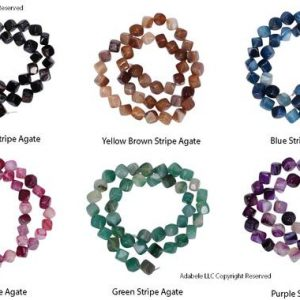 "You Pick AAA Natural Agate Gemstone 8mm Cube Loose Beads Spacer Beads 15.5"" (1 strand) GY2C 