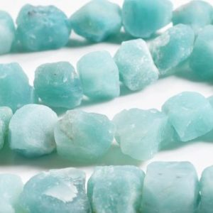"Full Strand(16"")Larger Amazonite gravel/ Natural Amazonite Freeform Chunks / Rough Amazonite Nugget-1 point is appx.10-15mm 