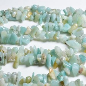 Shop Amazonite Shapes! Full Strand(84cm) Natural Drilled Amazonite Of Gravel -freeform-appx.3mm To 5mm, 5mm To 8mm | Natural genuine stones & crystals in various shapes & sizes. Buy raw cut, tumbled, or polished gemstones for making jewelry or crystal healing energy vibration raising reiki stones. #crystals #gemstones #crystalhealing #crystalsandgemstones #energyhealing #affiliate #ad